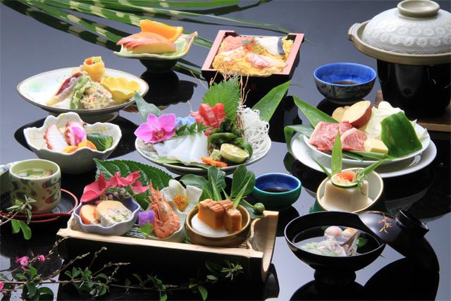 竹屋敷宿泊プラン料理